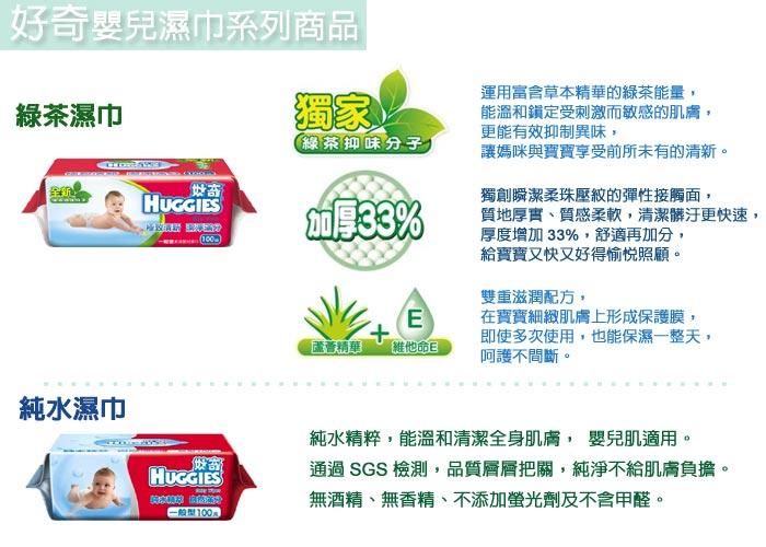 永大醫療~《好奇》純水嬰兒濕巾厚型(80抽18包/箱) 特惠價750元