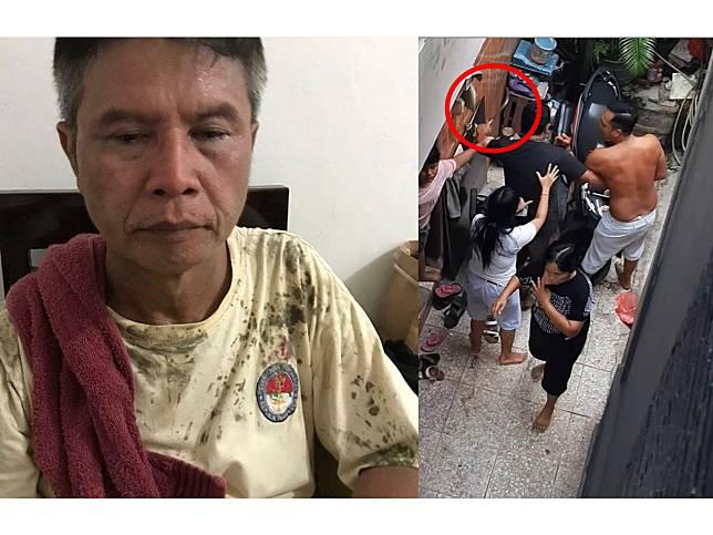 Foto Bapak Pemilik Rumah Setelah Mengalami Pengeroyokan dan Bapak yang Mengancam dengan Celurit (instagram.com/chenesias)