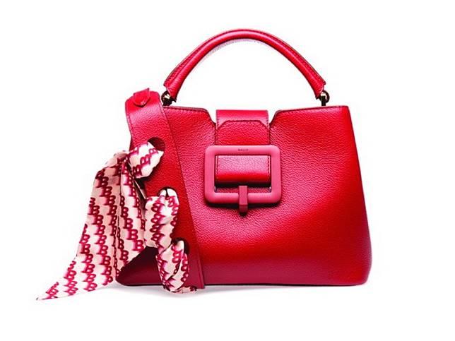 BALLY紅色牛皮手提包(互聯網)