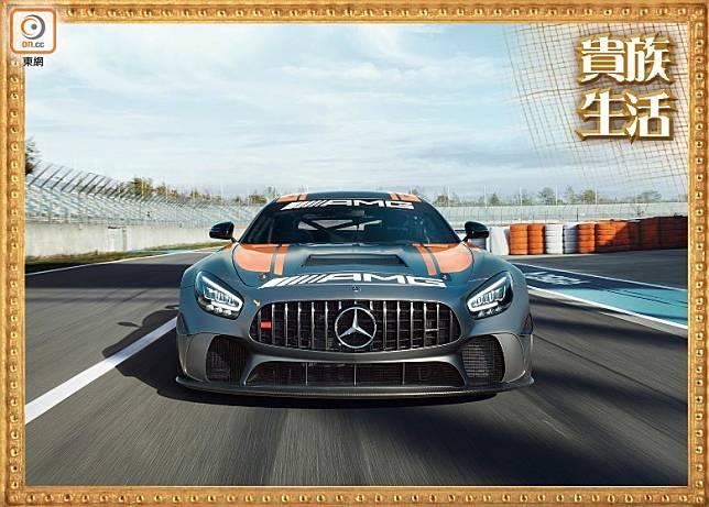 新版Mercedes-AMG GT4賽車,已開始投入市場。 (互聯網)