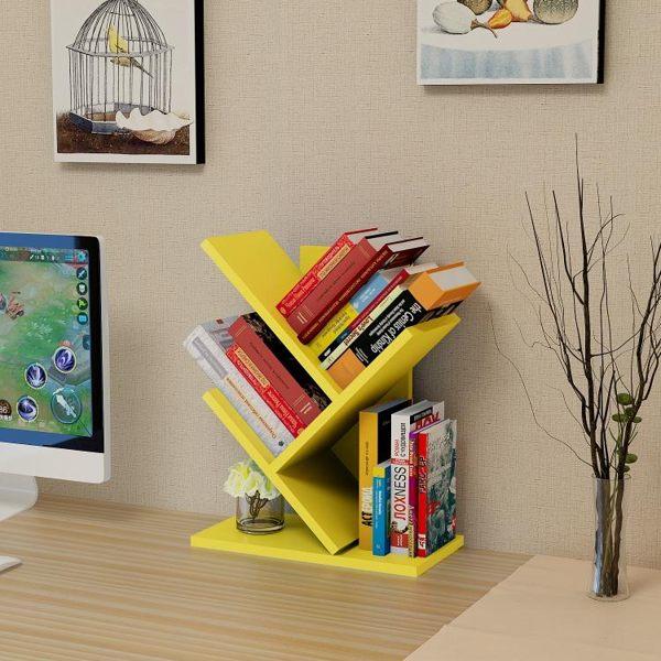 創意樹形雜誌架桌面小書架報刊架學生兒童置物架簡易床頭柜收納書架 zh5165【甜心小妮童裝】