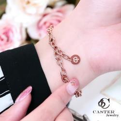 日本 凱斯特 CASTER 簡約設計搭配 玫瑰金手鍊 防抗過敏 SUS316L頂級不鏽鋼飾品 手環