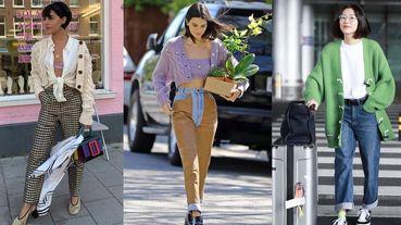 2019秋天你絕對需要一件復古風「針織外套」!學時尚名人甩掉土味的5種穿搭技巧