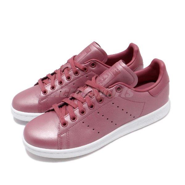 adidas 休閒鞋 Stan Smith W 紫紅 金屬光澤 女鞋 史密斯 三葉草 【PUMP306】 CM8603