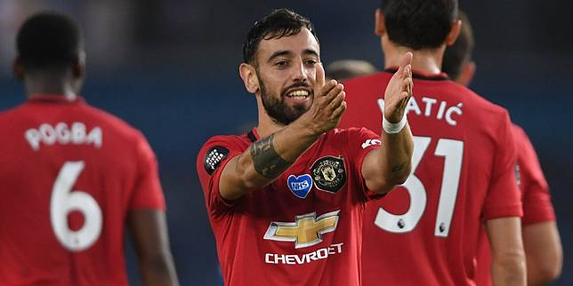 Gelandang Manchester United, Bruno Fernandes. (c) AP Photo