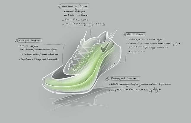 跑鞋多個位置包括鞋面、中底、外底、鞋帶眼以至是鞋領位都加入改良細節。(互聯網)