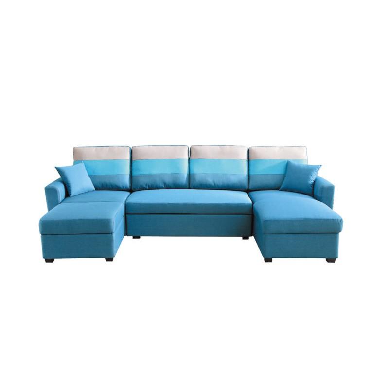 【YC319-9】 H30#藍色大L布沙發床組 W310×D165×H90cm $24,210 【商品材質】*可拆活動式扶手 *全可拆洗 *沙發扶手左右通用【是否需要組裝】簡易DIY◎對於忙碌的現代來