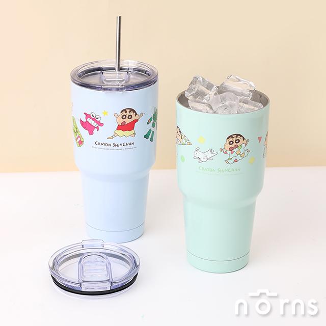 【預購】蠟筆小新不鏽鋼冰霸杯- Norns Crayon ShinChan正版授權 保溫杯 睡衣/玩具 304不鏽鋼 雙層真空飲料杯