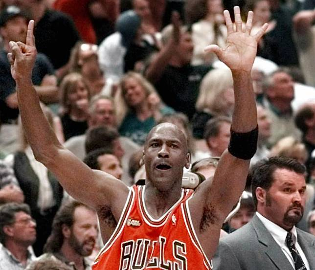 ▲芝加哥公牛「飛人」Michael Jordan。(圖/美聯社/達志影像)