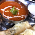 バターチキン&チーズナンセット - 実際訪問したユーザーが直接撮影して投稿した北新宿インド料理インド定食 ターリー屋 新宿フロントタワー店の写真のメニュー情報