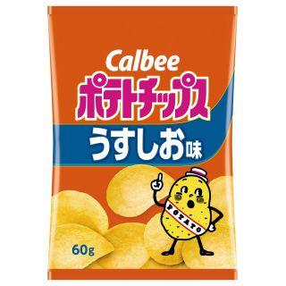 カルビー ポテトチップス うすしお味・コンソメパンチ・のりしお 各60g