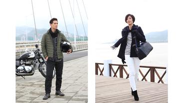 王后共演 / UNIQLO 品牌大使周渝民、桂綸鎂同台拍攝新品廣告