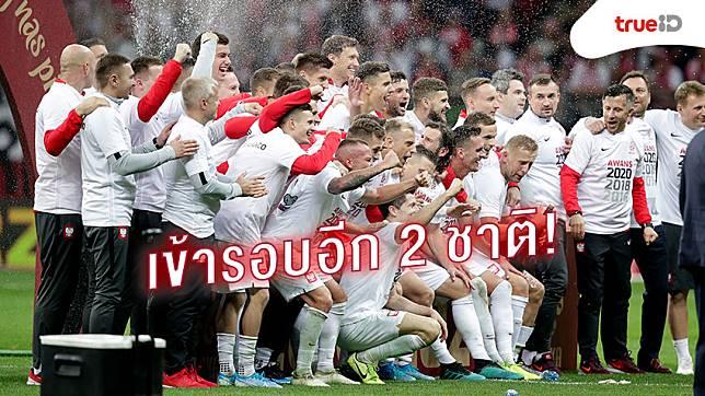 รวมแล้ว 4! โปแลนด์ กับ รัสเซีย การันตีตั๋วยูโร 2020 เพิ่มอีก 2 ทีม หลังกอดคอเก็บชัยชนะ
