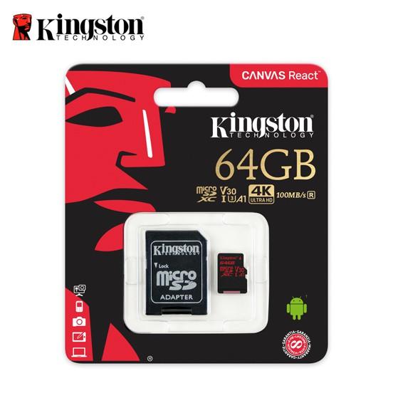Canvas React感動瞬間 即刻珍藏Kingston 的Canvas React™ microSD 記憶卡設計旨在滿足您對速度的渴求,擷取 4K 影片,或是在動作尚未停止時,拍攝驚人的超高速連拍
