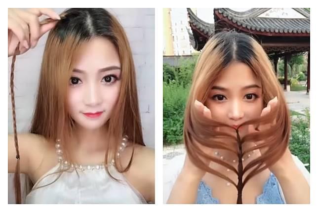 ▲許多男生都喜歡看自己心愛的女生綁頭髮,女孩將髮圈咬在嘴裡,雙手將頭髮往後撸的樣子,總是讓許多男士著迷。(圖/翻攝自影片)