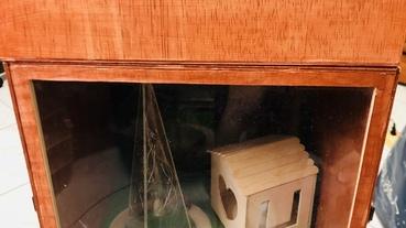 [生日。禮物。手做]超精緻手工木箱音樂盒!聖誕風配上會動的小火車!感動滿分~製作方式分享