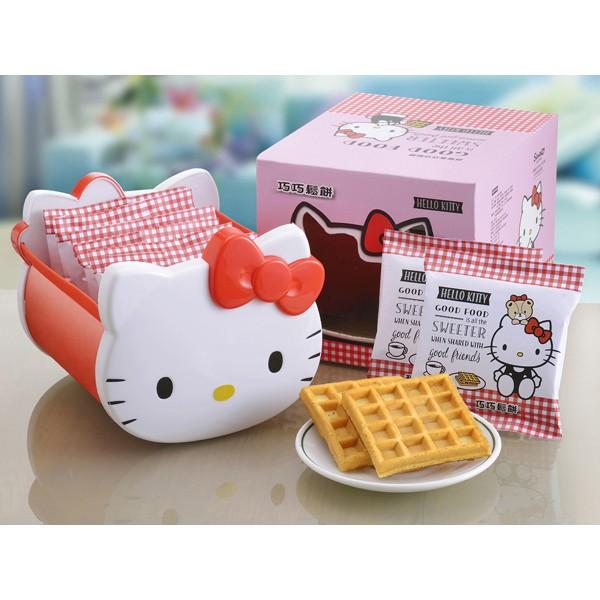 【商品特色】 獨立包裝,下午茶點心最佳選擇! 可愛Hello Kitty禮盒,送禮自用兩相宜! 產品說明:蛋奶素可食用。立體Q臉U形盒設計,可收納零食、小飾品、文具等小物,造型超可愛,Hello Ki