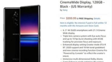 預購價 999 美元!?Sony Xperia 1 美國 Amazon 意外上架