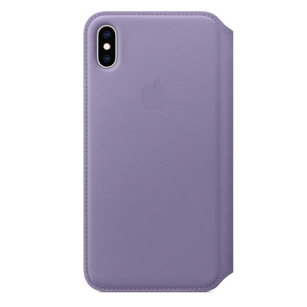 iPhone XS Max 皮革雙面夾 - 紫丁香色 iPhone XS Max Folio 皮革保護殼