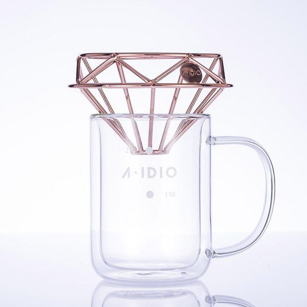 A-IDIO 鑽石咖啡濾杯壺組(台灣製),加贈濾紙100入(1-2人)送完為止