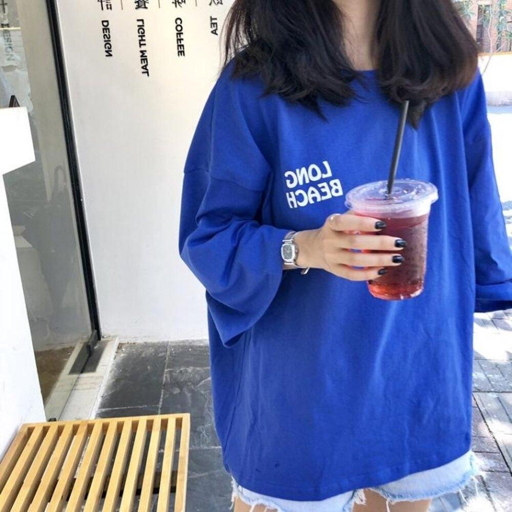 短袖 短袖t恤女嘻哈bf原宿風夏裝韓版寬鬆女生帥氣上衣服潮 瑪麗蘇精品