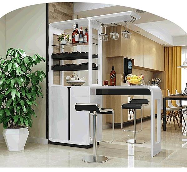 小吧台桌家用酒櫃 現代簡約吧台隔斷櫃酒吧櫃子客廳餐廳玄關櫃