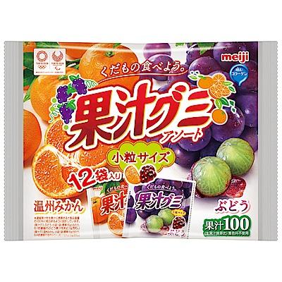 明治 果汁QQ軟糖-葡萄蜜柑家庭號(156g)