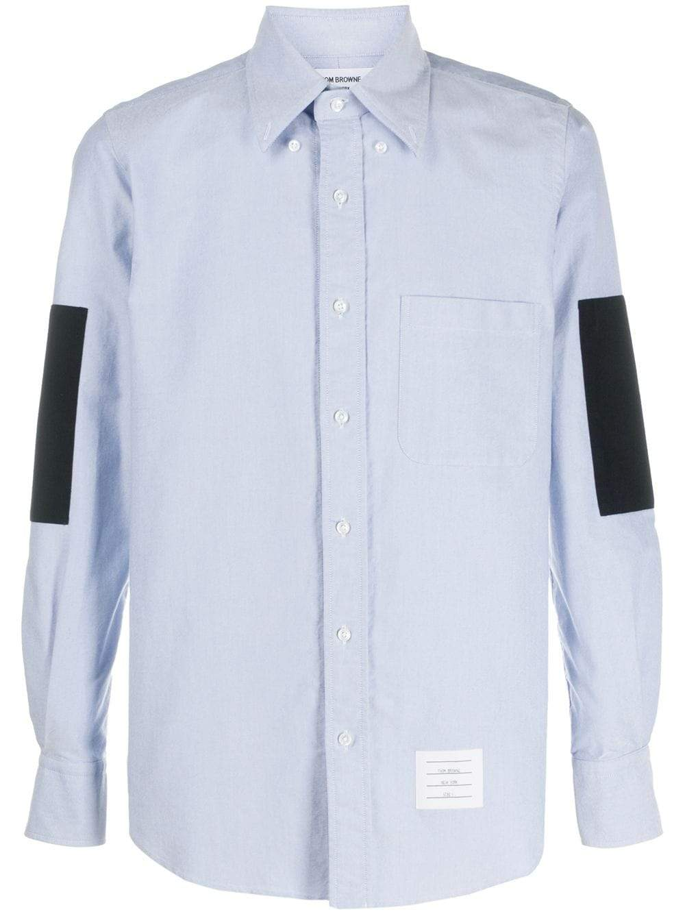 You can never have too many shirts. Which is exactly why this light blue elbow patch shirt from Thom