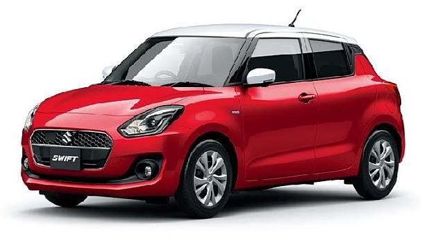 Suzuki Swift HYBRID MG Limited yang akan hadir di Jepang. Sumber: headlightmag.com