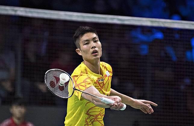 周天成在印尼羽球公開賽男單第一輪輕鬆過關。(資料照/美聯社)