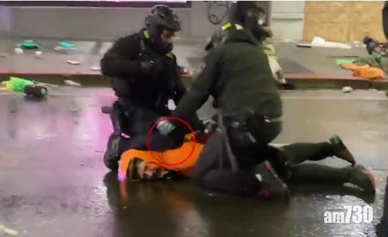 【美國示威】西雅圖警膝壓男子頸  遭同僚撥開 (有片)