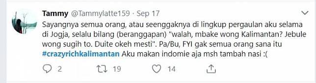 Nggak semua orang Kalimantan itu kaya, ada juga yang makan Indomie masih ditambah nasi