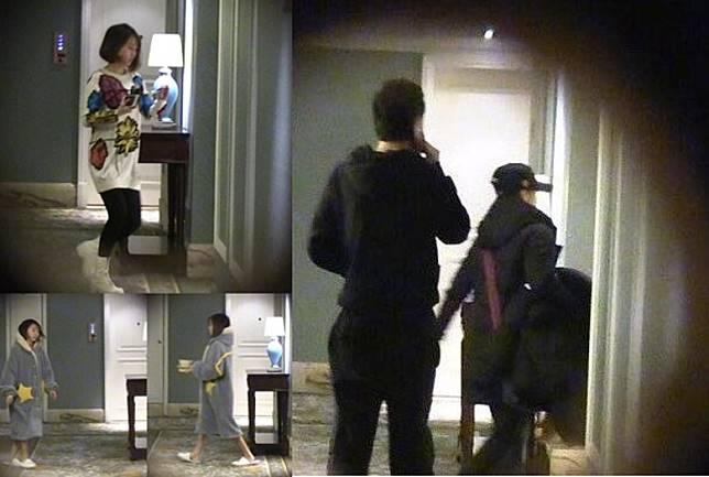 4月8日開始,有多輯焄片流出,有畢瀅拎住支疑似驗孕棒進入張丹峰酒店房的照片。