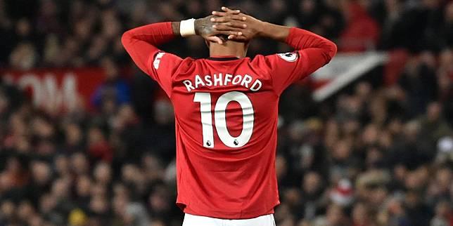 Striker Manchester United, Marcus Rashford. (c) AP Photo