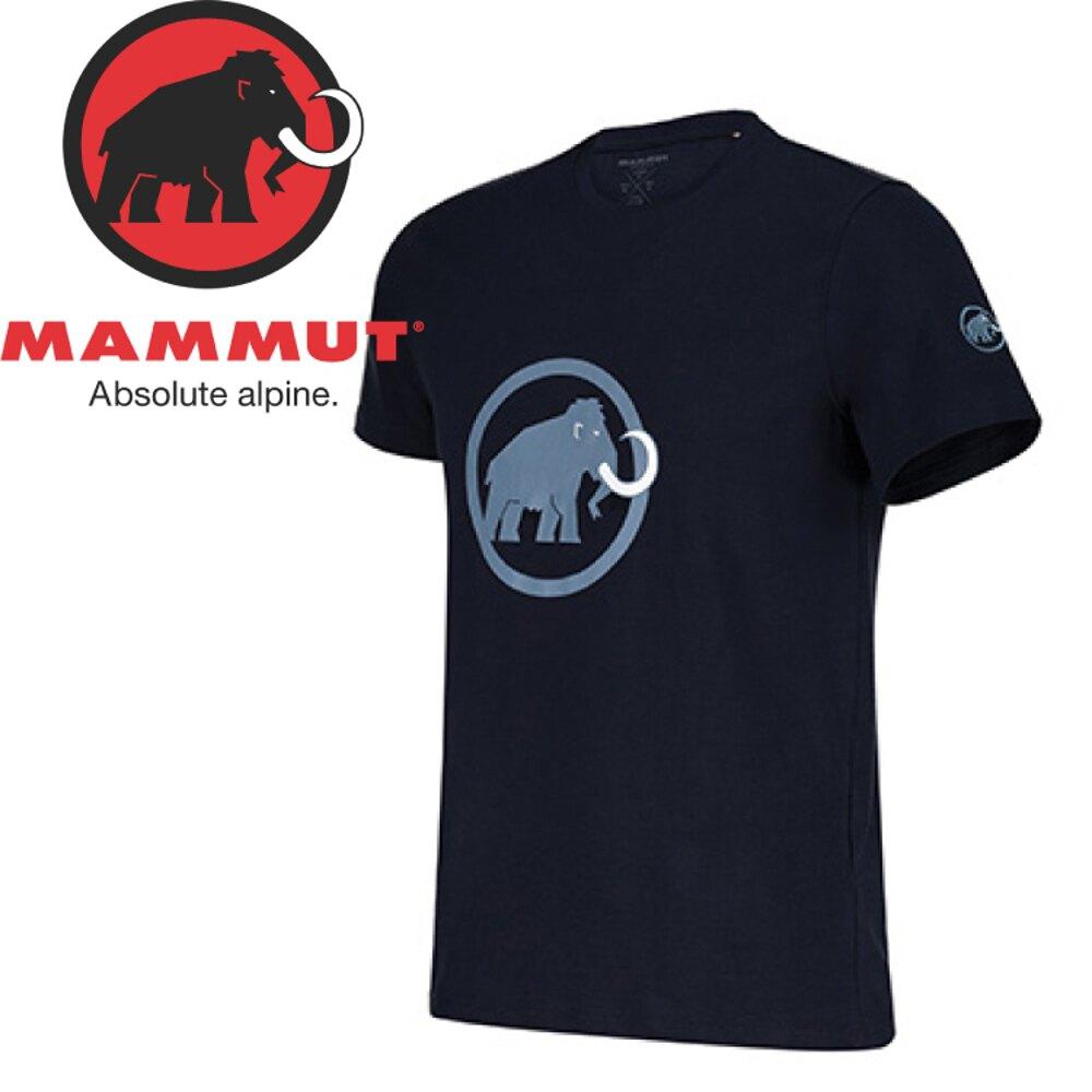 【Mammut Logo T-Shirt 男《海洋藍》】1041-07291-50033/排汗透氣/有機棉/戶外機能服/登山休閒