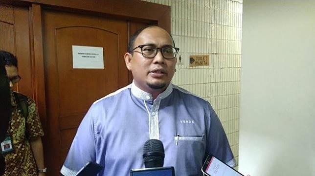 Wasekjen Gerindra sekaligus Juru Bicara BPN Prabowo - Sandiaga, Andre Rosiade. (Suara.com/Stephanus Aranditio)
