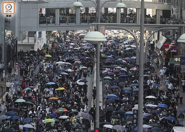 大批市民參與上周六「光復屯門」遊行。