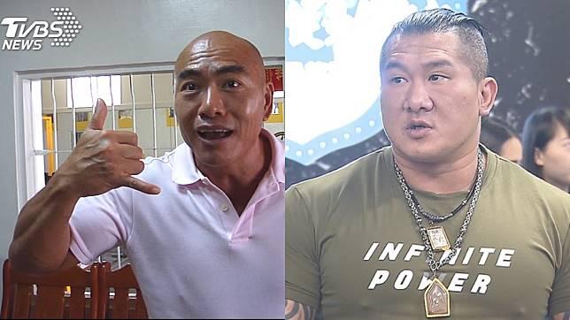 55歲前國手林志成(左)日前向網紅「館長」陳之漢(右)下戰帖。圖/TVBS資料照