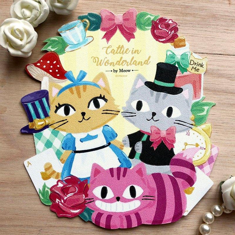 Catty in Wonderland 愛麗絲貓貓明信片,可愛的貓貓變身愛麗絲,帶你進入可愛奇幻之旅!