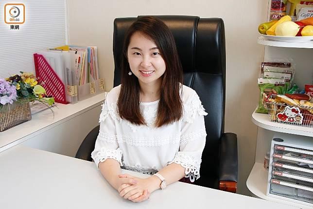 「家營營養中心」認可營養師吳瀟娜(Lillian)。(郭凱敏攝)