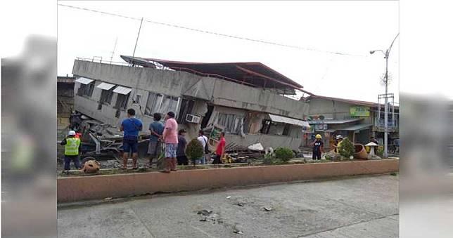 菲律賓2個月內第5場強震!建築物斷電倒塌1死14傷