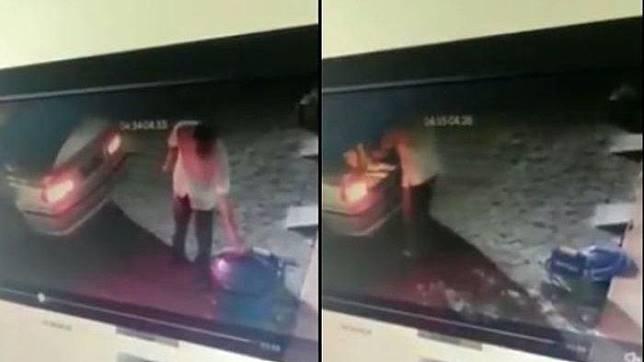 Video detik-detik pengemudi BMW curi tempat sampah di Malang viral di media sosial.