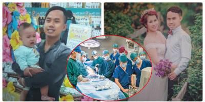 """Thai phụ nghẹn ngào phút tiễn biệt chồng, vừa khóc vừa bảo con: """"Bố ở lại BV để cứu người"""""""