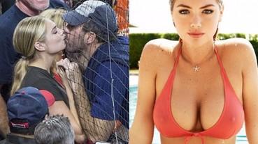 男人夢寐以求的超正女友 Kate Upton 棒球場與男友這一吻超甜!