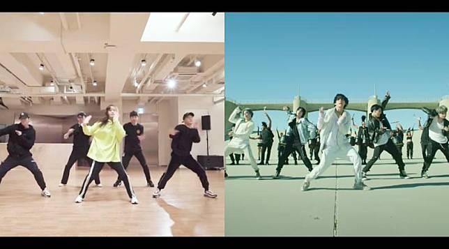 ▲潤娥表演NCT 127、EXO、BTS、SEVENTEEN等知名男團作品。(圖/潤娥IG、Big Hit Labels YouTube)