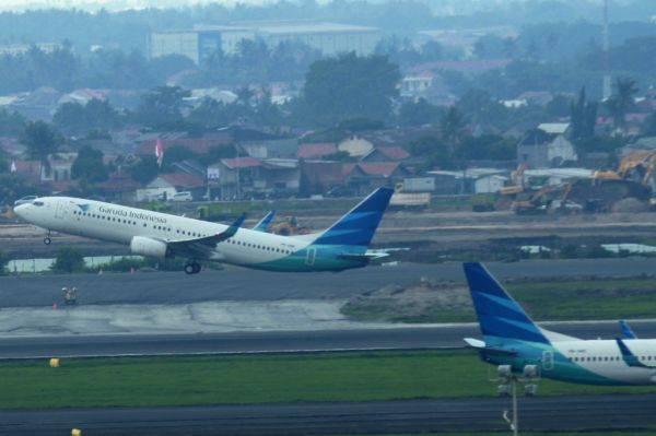 Pesawat maskapai Garuda Indonesia