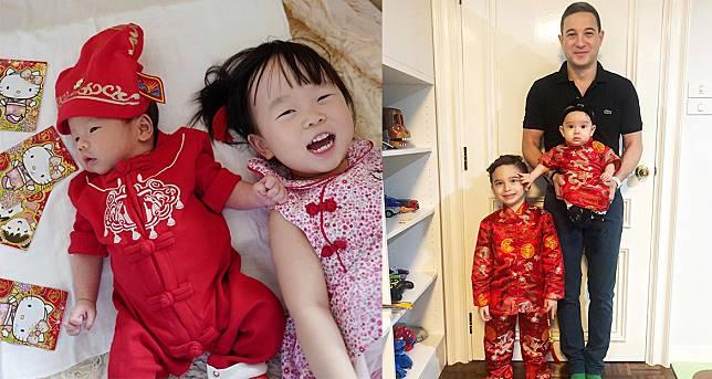 เซเลบริตี้ตัวน้อยพร้อมใจกันใส่ชุดแดงต้อนรับตรุษจีน รอรับอั่งเปาจากญาติผู้ใหญ่