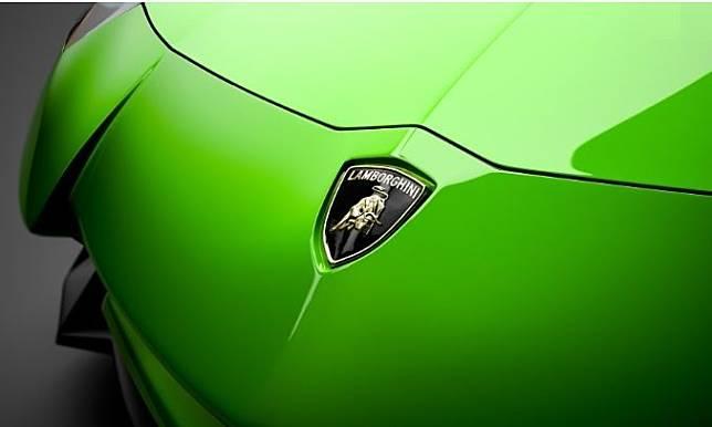 Emblem Lamborghini dengan gambar banteng
