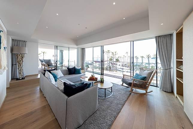 位於4樓有最頂級客房The Malibu Suite,客房面積達93平方米,並擁有51平方米露台,可以遠眺相模灣及富士山美景。(互聯網)