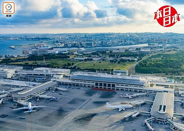 往日那霸機場分成國際線和國內線兩大航廈。(互聯網)